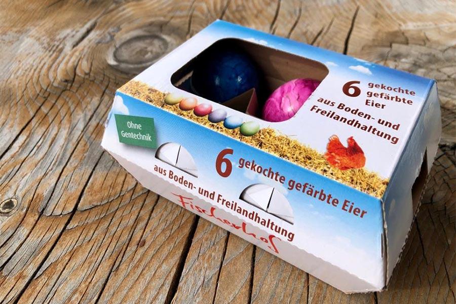 Gefärbte Eier vom Fischerhof in Hohenfurch